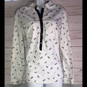 New York and company V neck Shirt, long sleeve/L